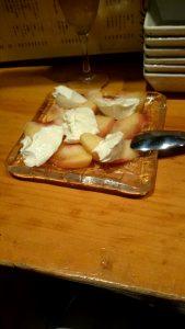 桃とマスカポーネ